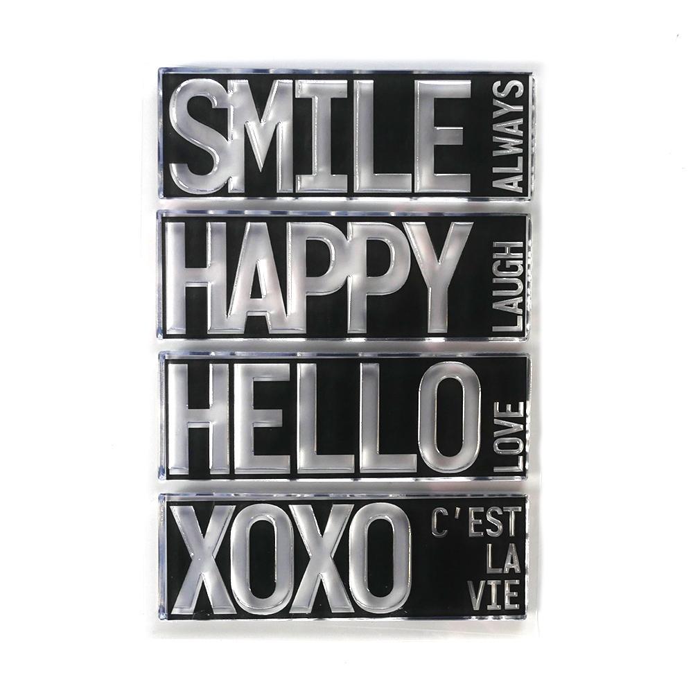 Elizabeth Craft Clear Stamps - CS194 Block Words - Hello