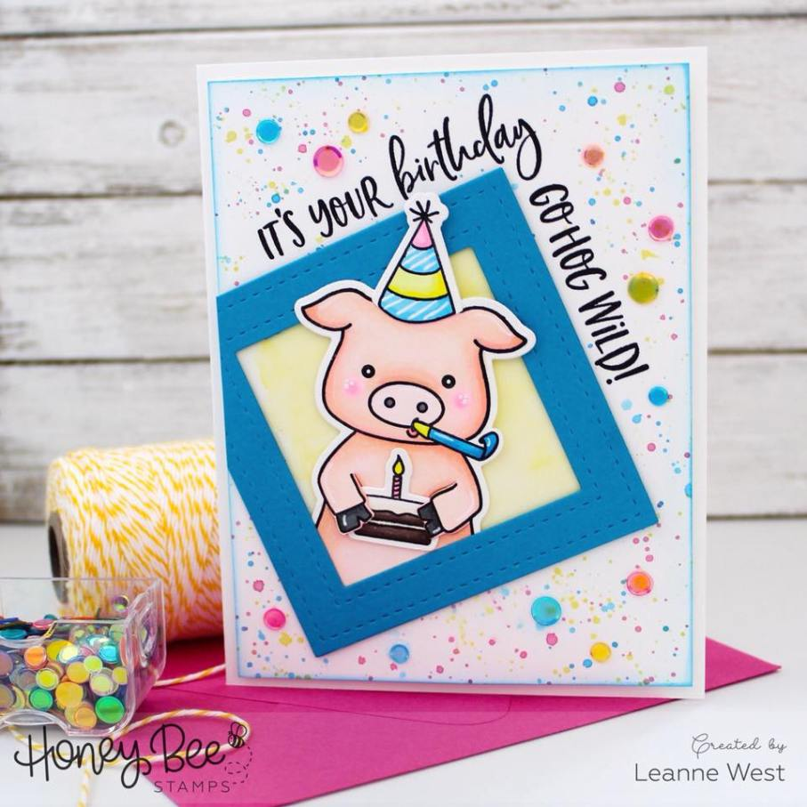 Honey Bee Stamps - Pinky The Pig