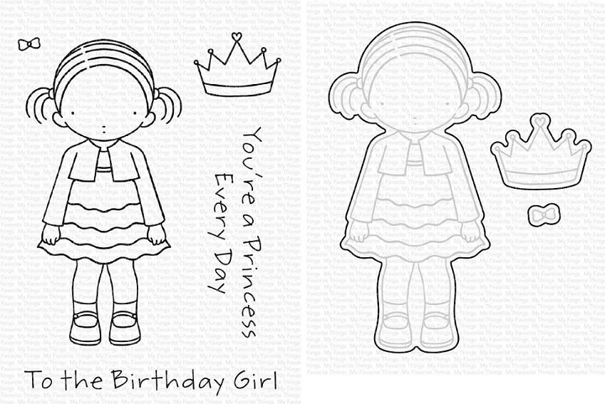 Die-namics - MFT-1780+PI-305 PI Birthday Girl スタンプ&ダイセット♪