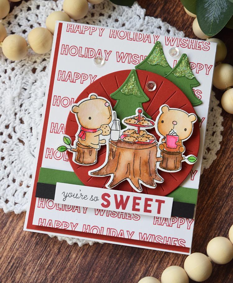Reverse Confetti ダイ & スタンプ セット♪ - Cookies & Milk