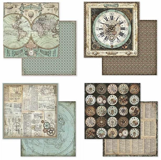 Stamperia Paper Pad 12×12 - SBBL53 Voyages Fantastiques