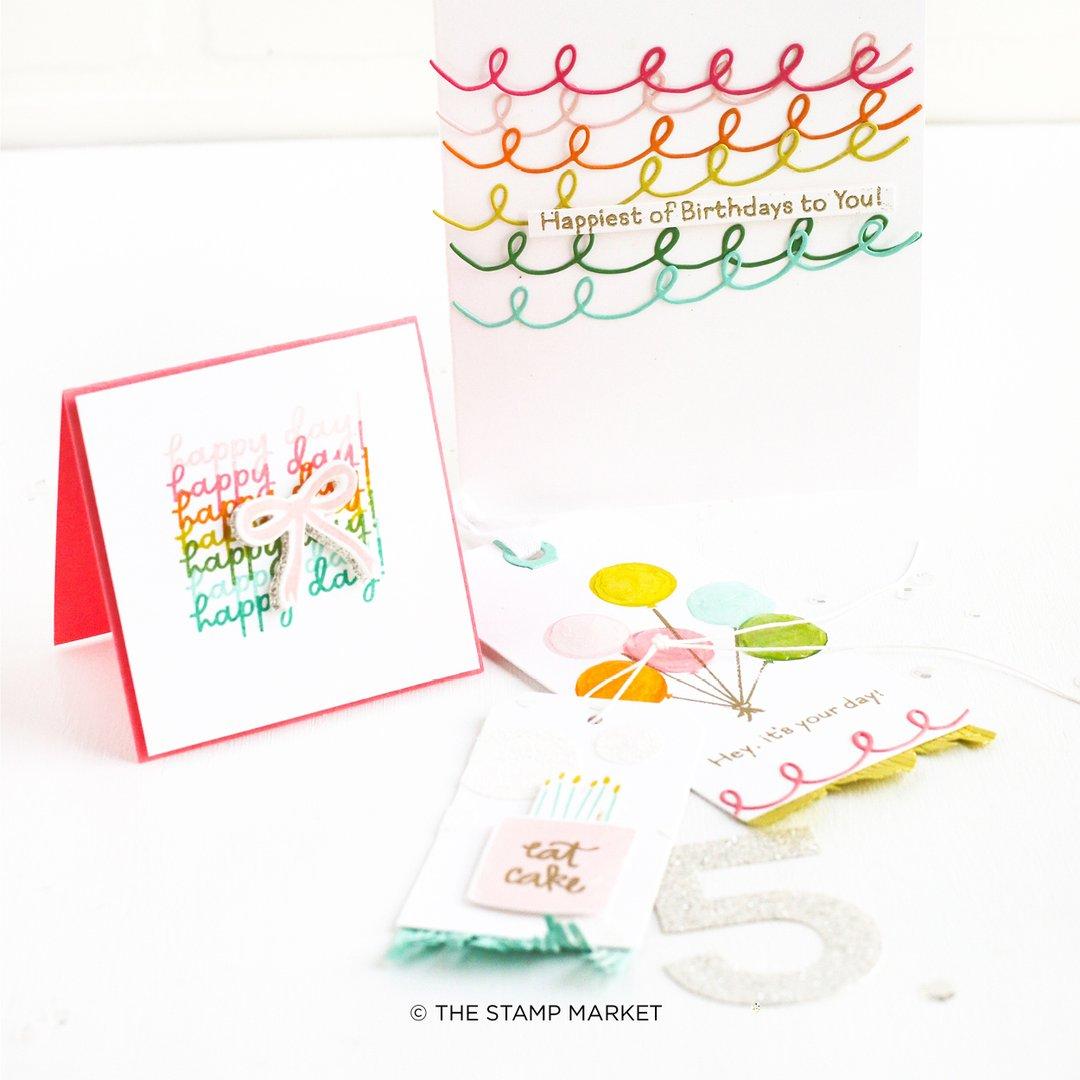 The Stamp Market セット♪ - Happiest of Birthdays