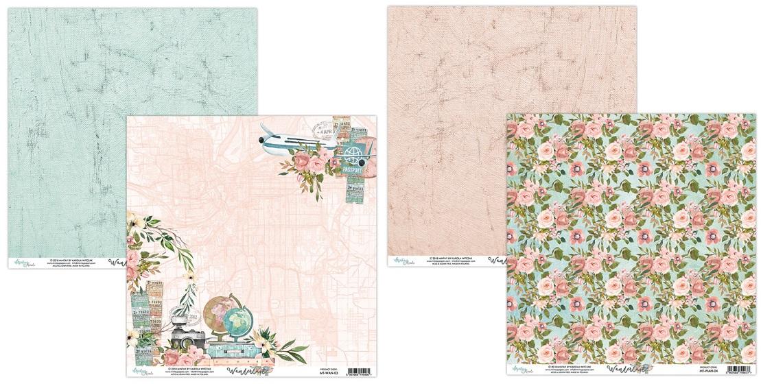 Mintay 6 x 6 Paper Set - MT-WAN-08 Wanderlust