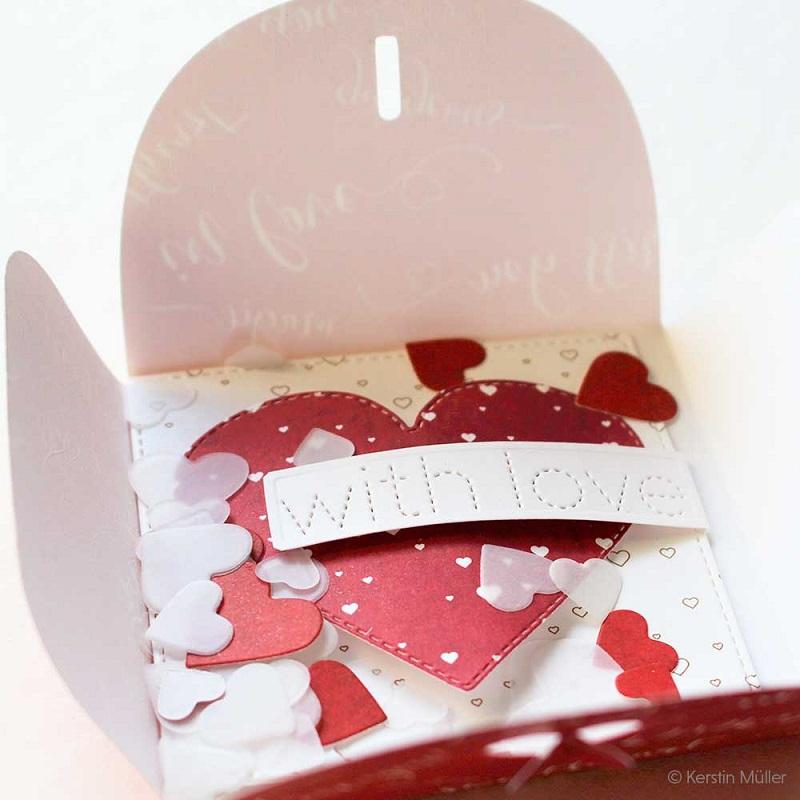 Alexandra Renke Die - D-AR-3D0041 Heart envelope 【中型マシン専用】