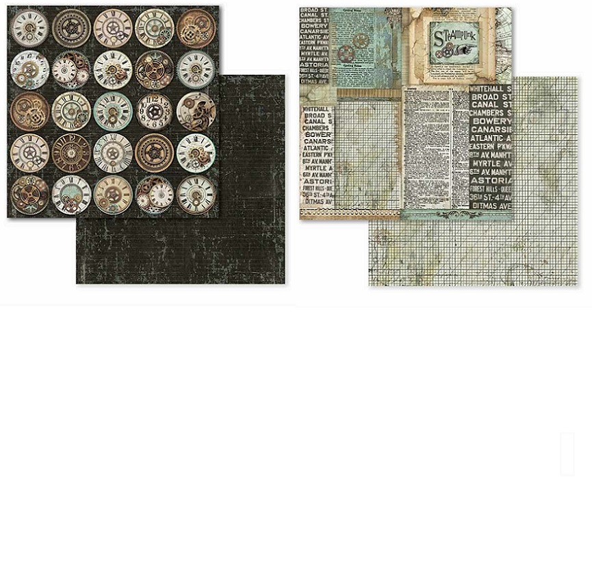 Stamperia Paper Pad 12×12 - SBBXL01 Voyages Fantastiques  *22枚入