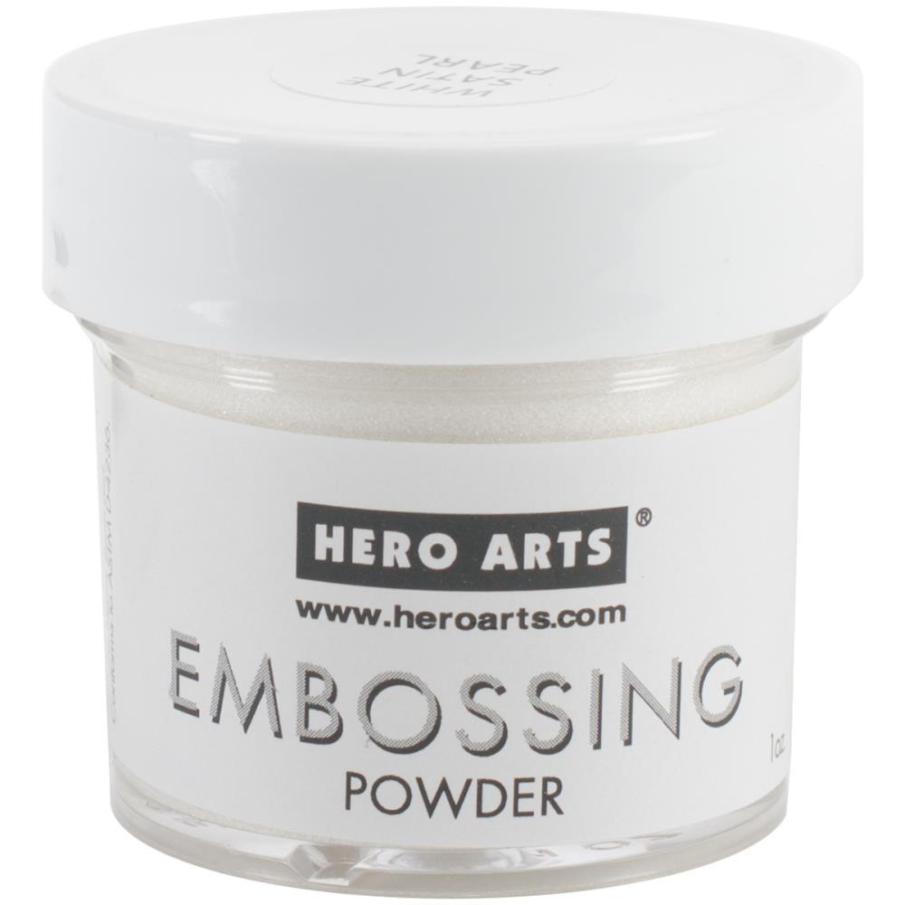 Hero Arts Embossing Powder - PW118 White Satin Pearl