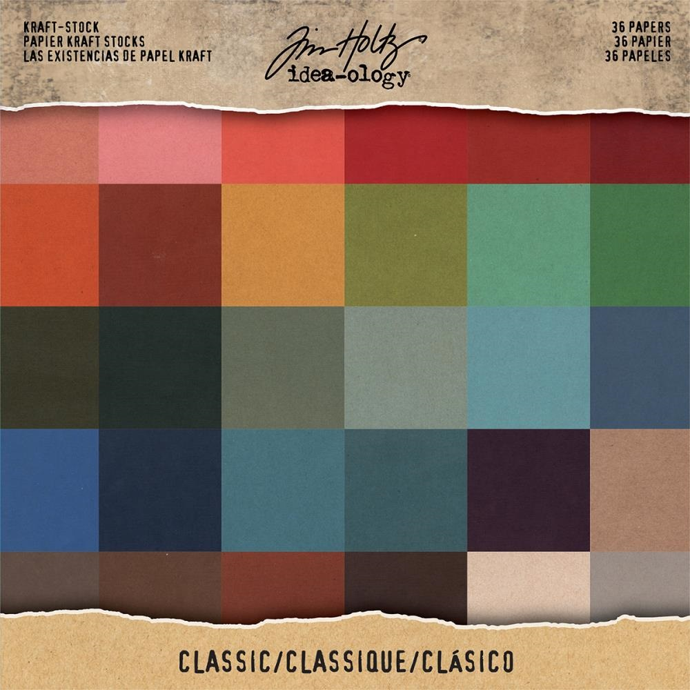 Tim Holtz  Idea-Ology - TH93585 Kraft-Stock Paper Pad 8×8 Classic