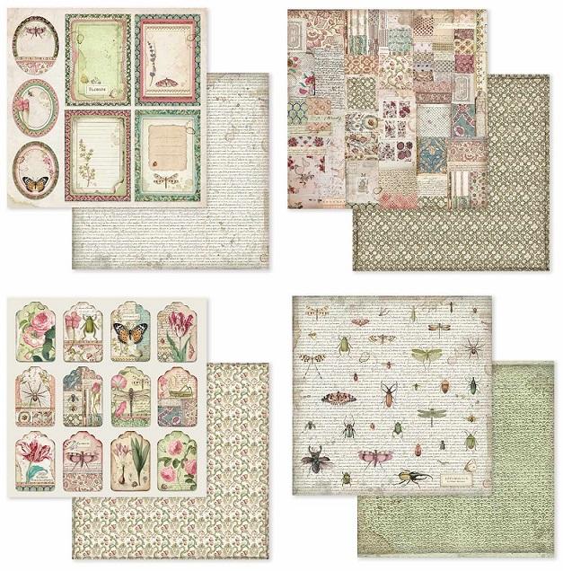 Stamperia Paper Pad 12×12 - SBBL50 Spring Botanic