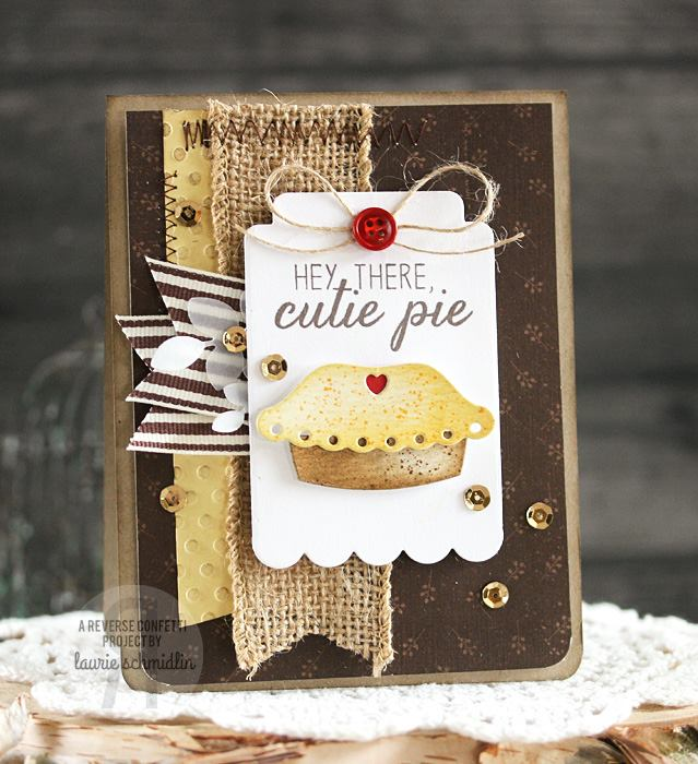 Reverse Confetti Clear Stamp - Easy As Pie