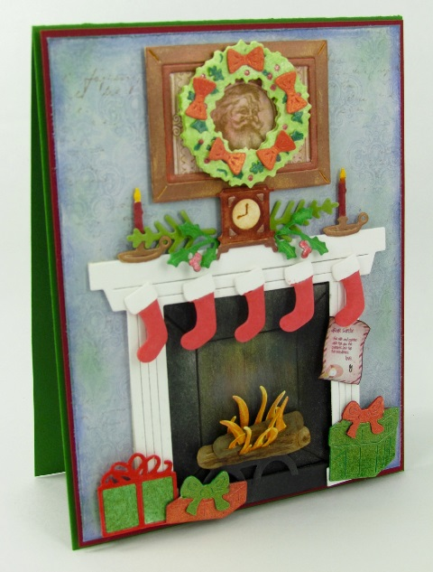 Frantic Stamper Precision Dies - 10022 Fireplace Holiday Extras