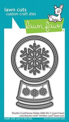 Lawn Fawn LawnCuts LF2434 Shutter Card Snow Globe Add-On