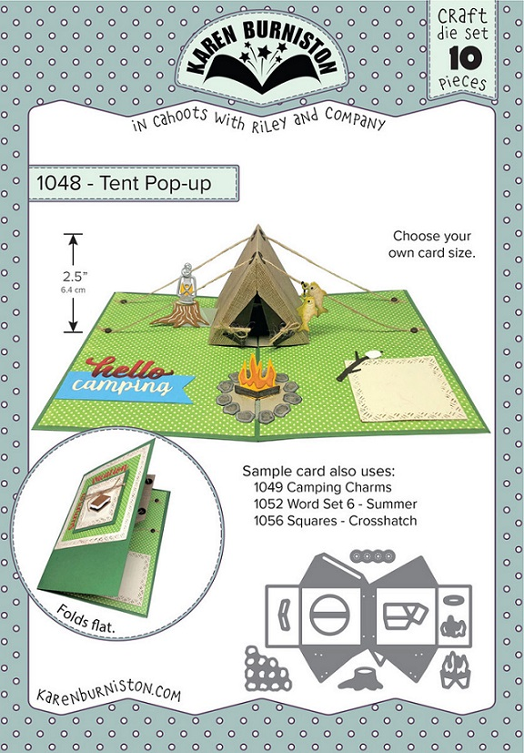 Karen Burniston Die - 1048 Tent Pop-Up
