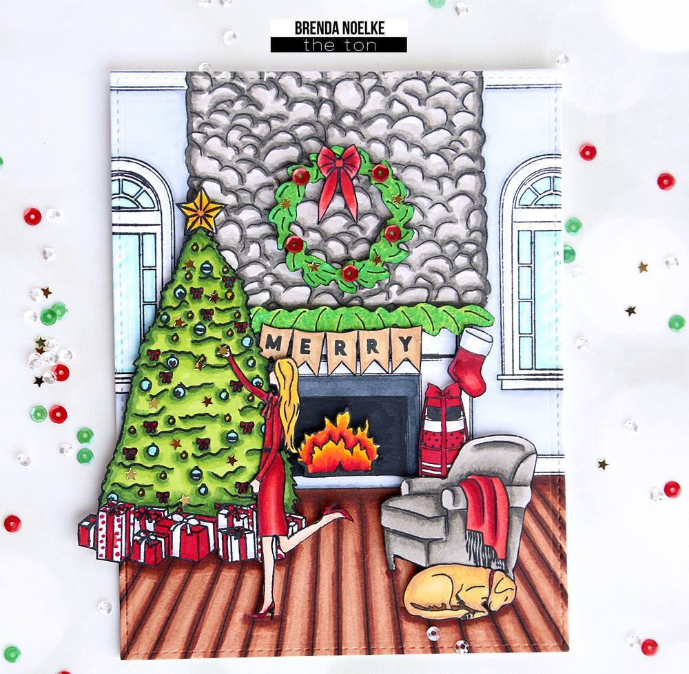 The Ton Stamp - Fireplace Holiday Accessories