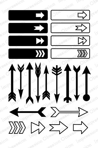 Impression Obsession Clear Stamp - CL461 Arrows