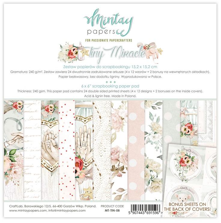 Mintay 6 x 6 Paper Set - MT-TIN-08 Tiny Miracle