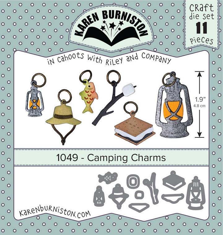 Karen Burniston Die - 1049 Camping Charms