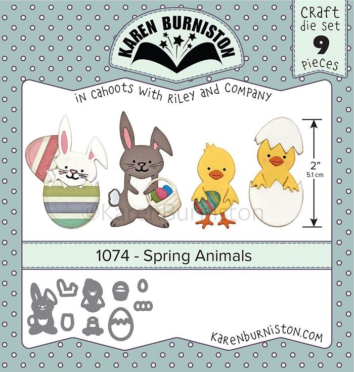 Karen Burniston Die - 1074 Spring Animals