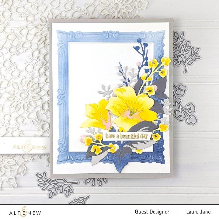 Altenew 3D Embossing Folder + Stencil - ALT4876 Simple Frame