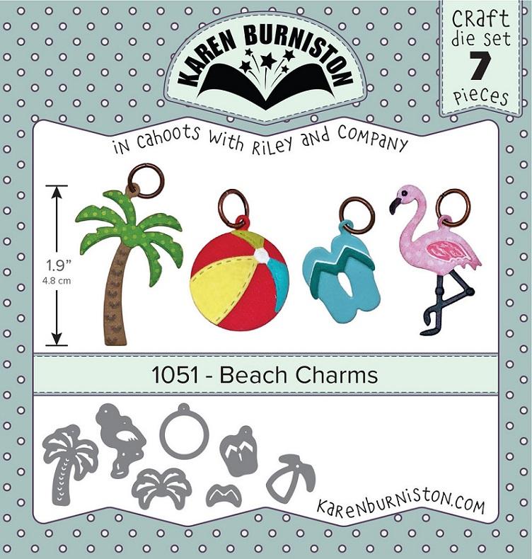 Karen Burniston Die - 1051 Beach Charms