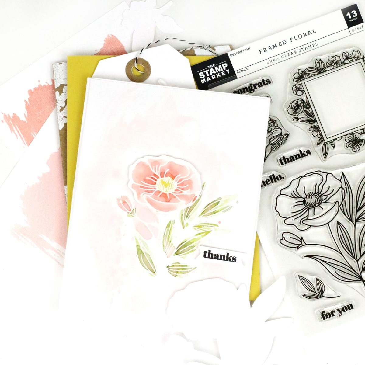The Stamp Market セット♪ - Framed Floral