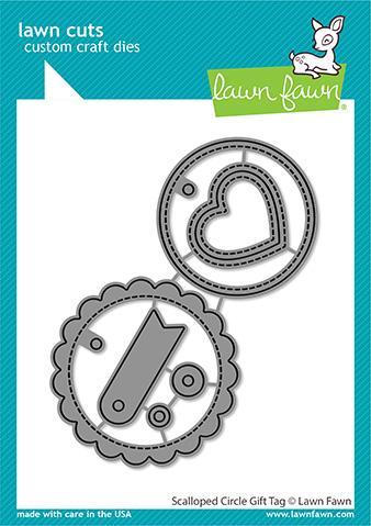 Lawn Fawn LawnCuts LF2453 Scalloped Circle Gift Tag
