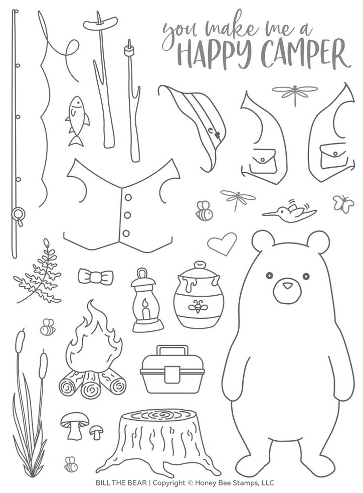 Honey Bee Stamps - Bill The Bear