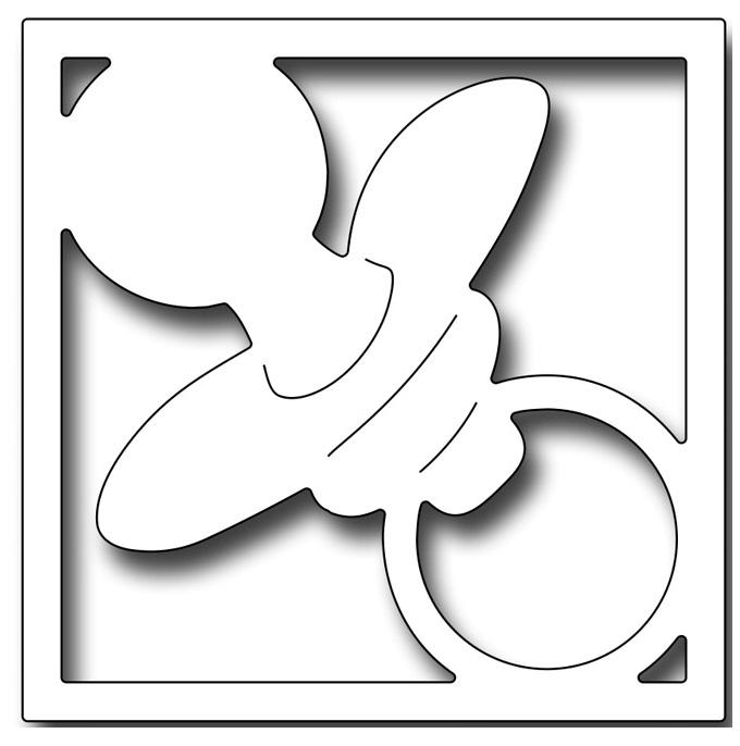 Frantic Stamper Precision Dies - 10191 Pacifier Square