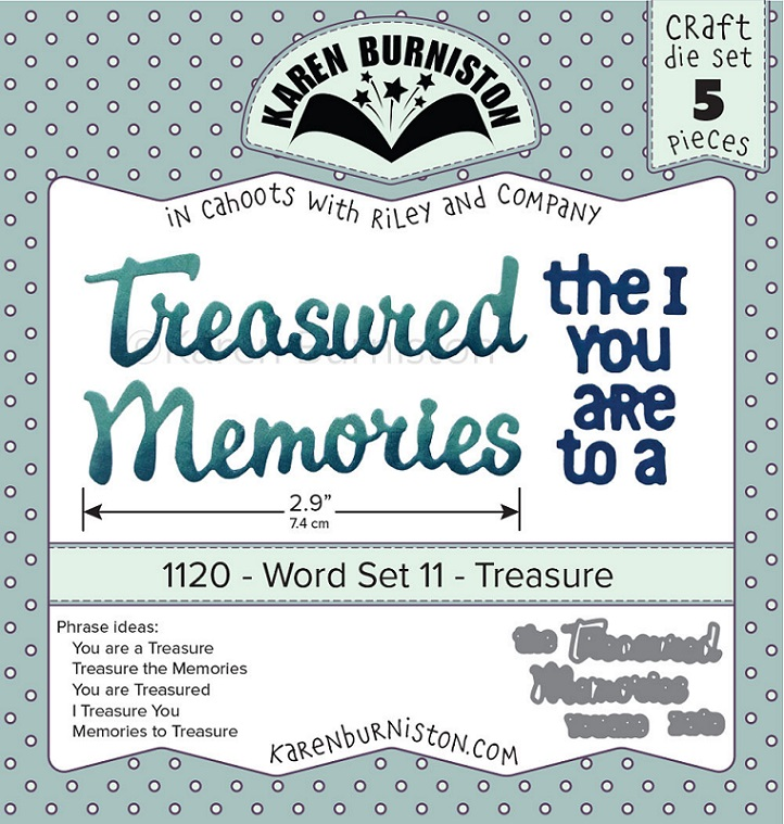 Karen Burniston Die - 1120 Word Set 11 - Treasure