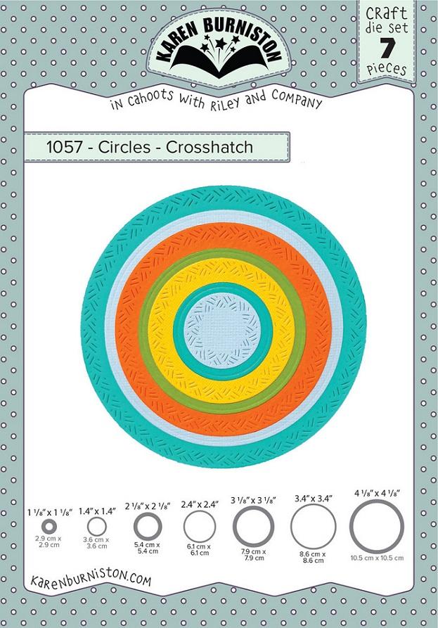 Karen Burniston Die - 1057 Circles - Crosshatch