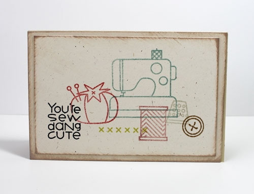 Paper Smooches Clear Stamps - Needle Little Love