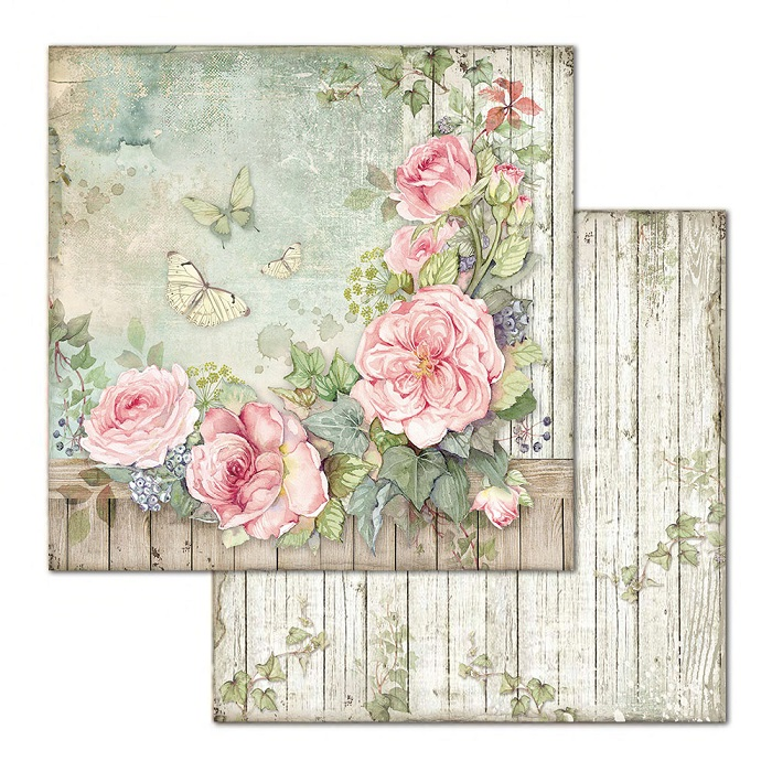 Stamperia Paper Pad 12×12 - SBBL66 House Of Roses