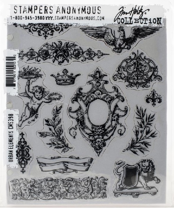 Stampers Anonymous Tim Holtz Cling Stamps - CMS398 Urban Elements