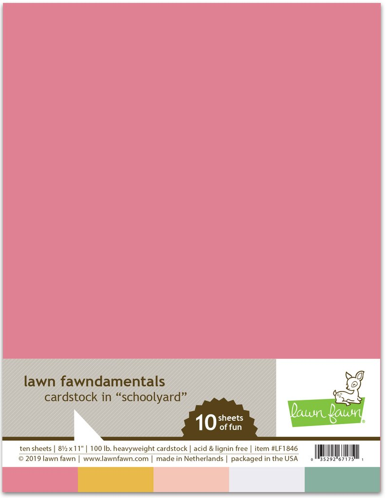 Lawn Fawn Cardstock 8 1/2×11 - LF1846 Schoolyard Pack