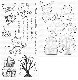 Die-namics - MFT-1582+SY-12 SY Spooktacular Friends スタンプ&ダイセット♪