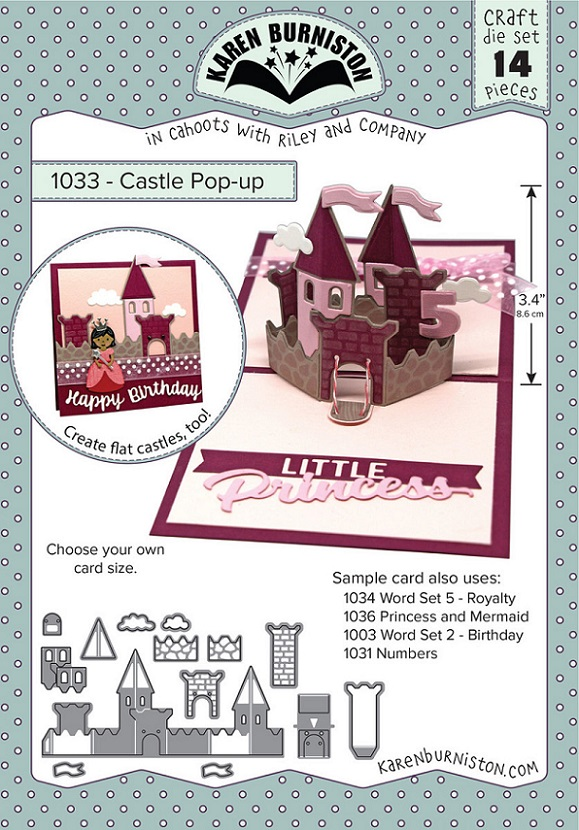 Karen Burniston Die - 1033 Castle Pop-up