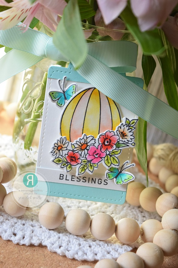Reverse Confetti Clear Stamp - Adorned Egg