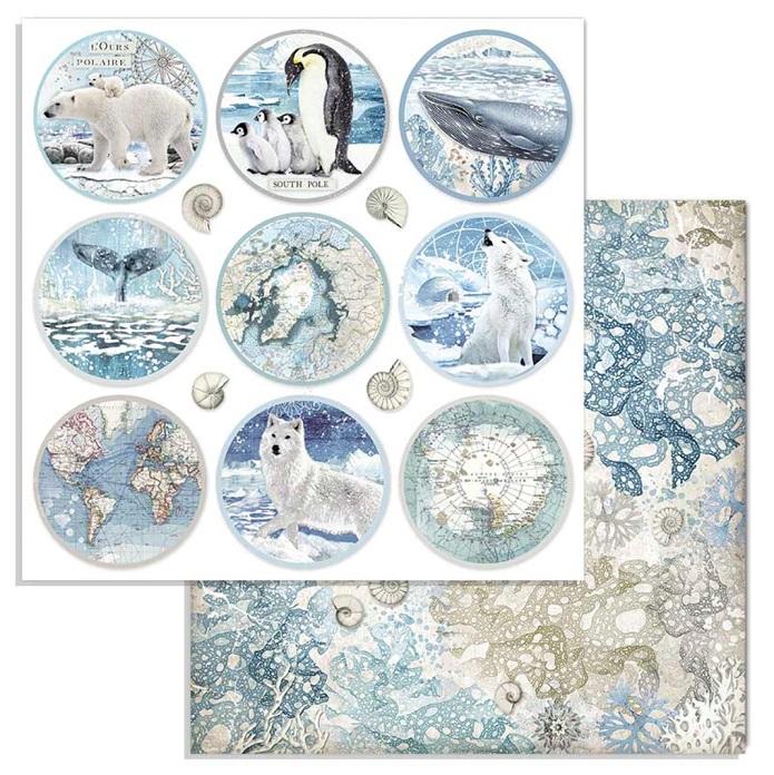 Stamperia Paper Pad 12×12 - SBBL77 Arctic Antarctic