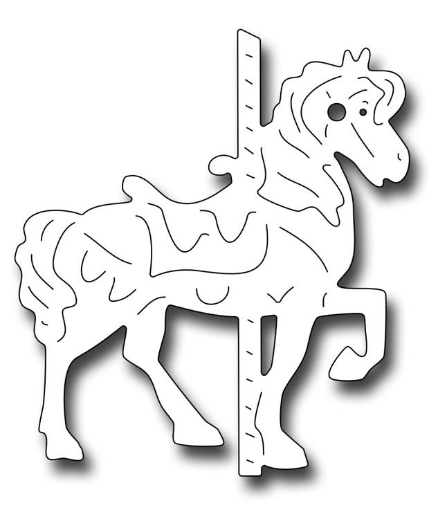 Frantic Stamper Precision Dies - 10213 Small Carousel Horse