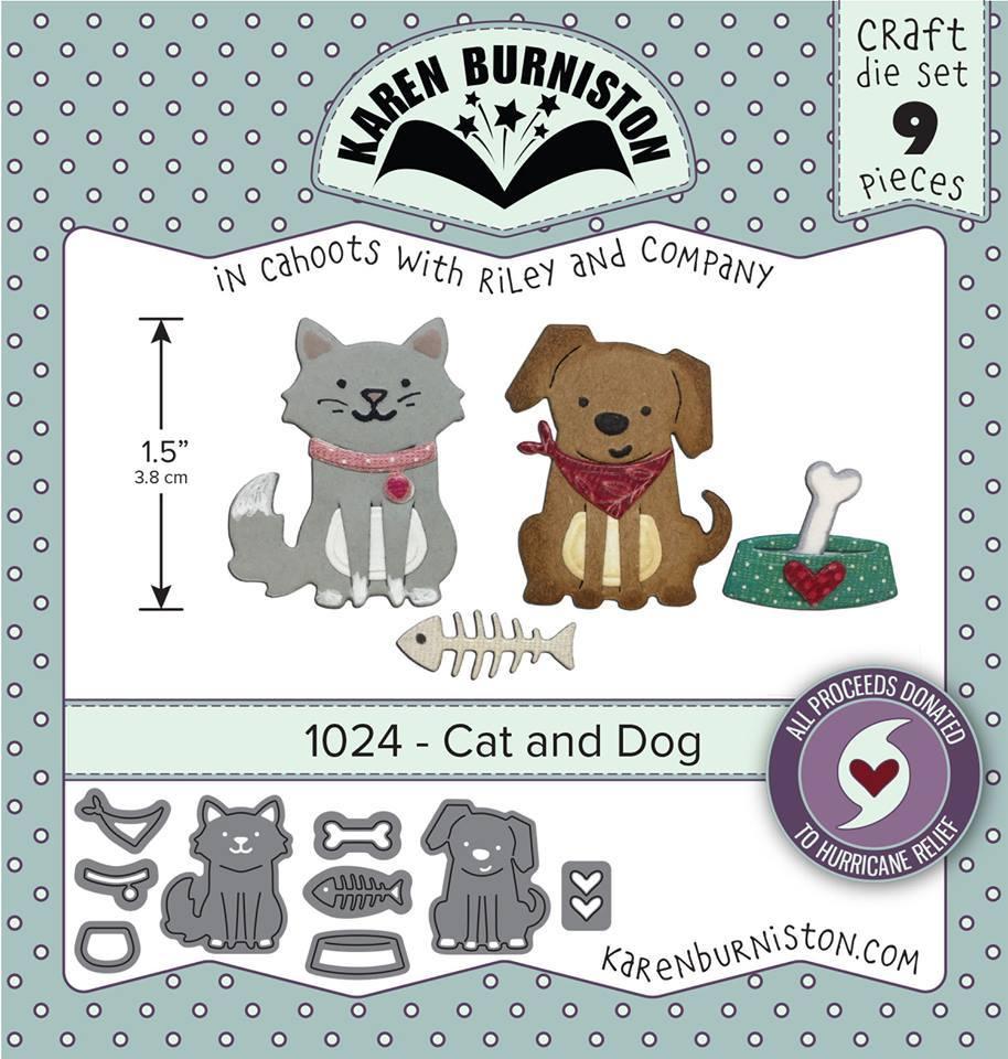 Karen Burniston Die - 1024 Cat and Dog