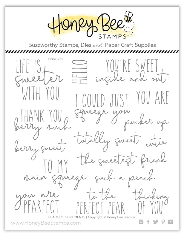 Honey Bee Stamps - Pearfect Sentiments