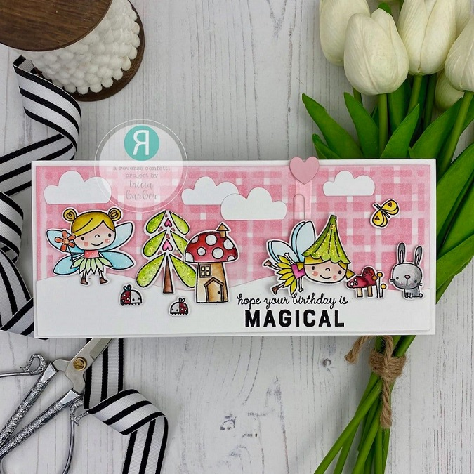 Reverse Confetti Clear Stamp - Enchanted Garden