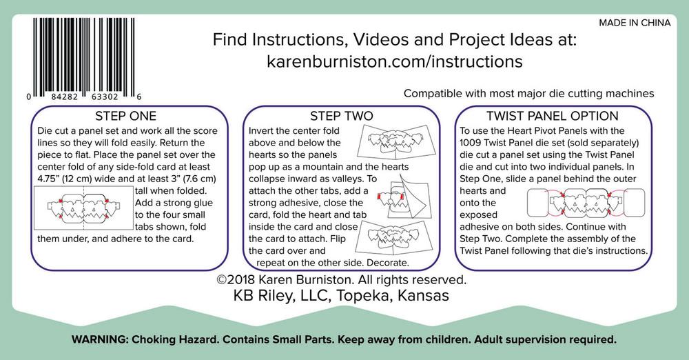 Karen Burniston Die - 1088 Heart Pivot Panels