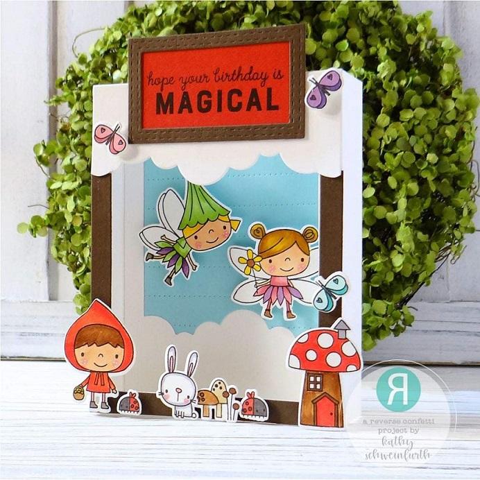 Reverse Confetti ダイ & スタンプ セット♪ - Enchanted Garden