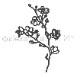 Alexandra Renke Die - D-AR-FL0034 Cherry blossom branch