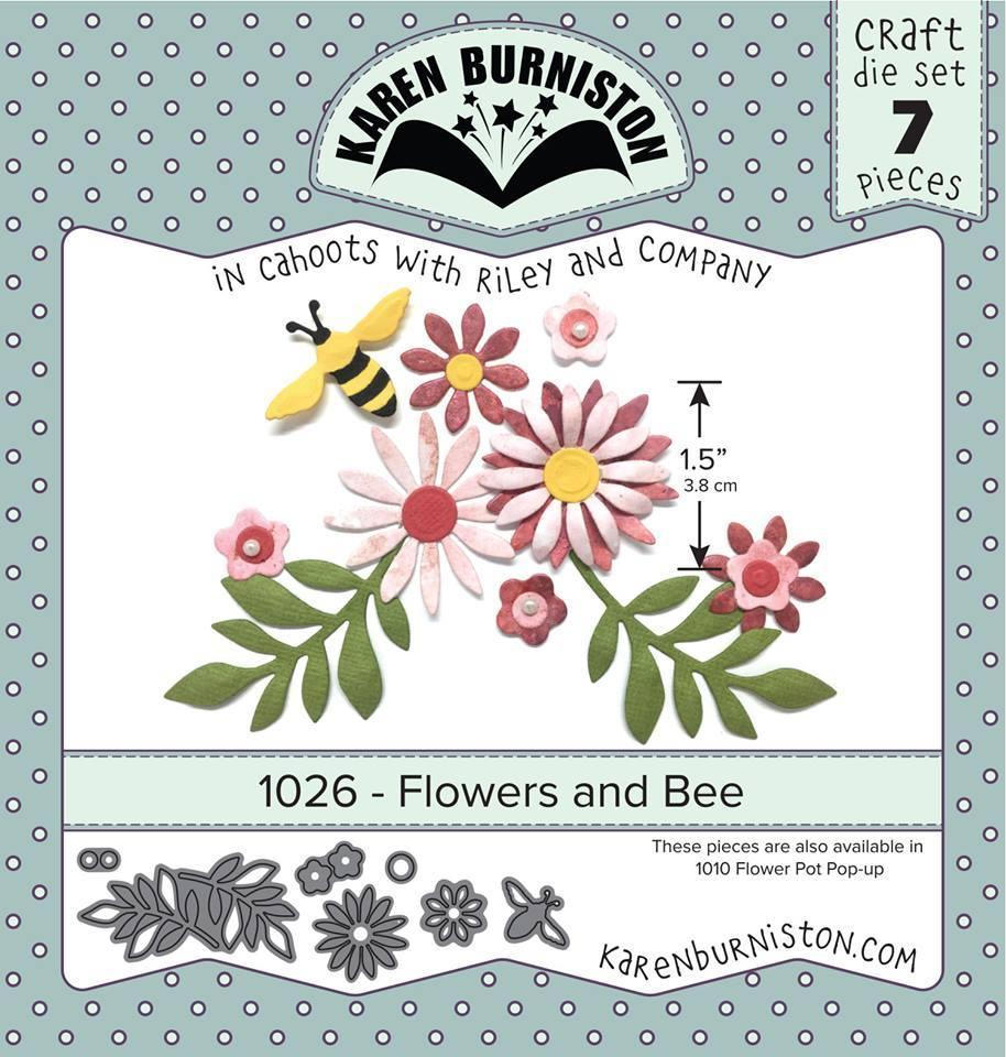 Karen Burniston Die - 1026 Flowers and Bee