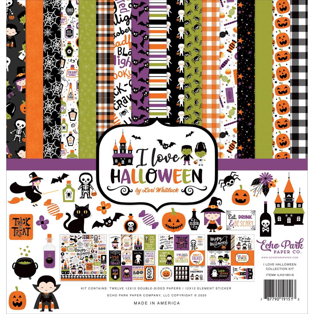 Echo Park Collection Kit 12×12 - ILH218016 I Love Halloween