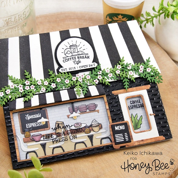 Honey Bee Stamps - Stamps Coffee Shop House Builder Add-On