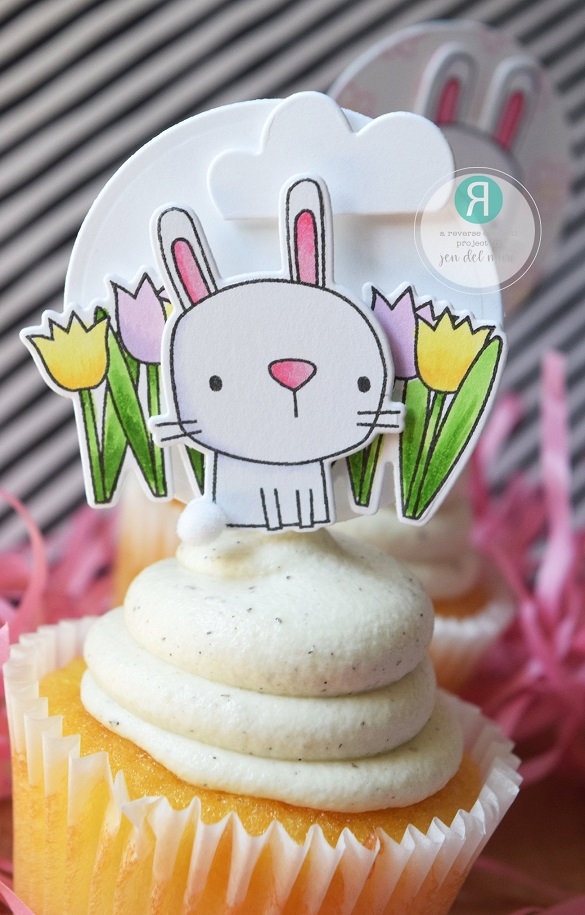 Reverse Confetti ダイ & スタンプ セット♪ - Hop Into Spring