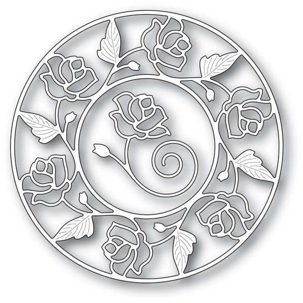 Memory Box Die  -  94231 Stained Glass Rose Circle Frame