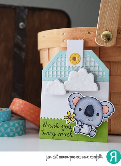Reverse Confetti Clear Stamp - Bear Hugs